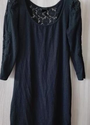 Крутое черное платье h&m