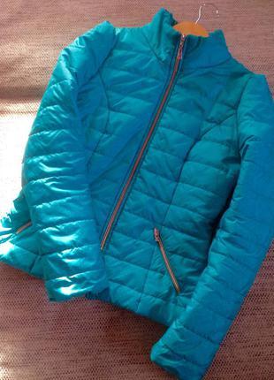 Куртка весенняя бирюзовая