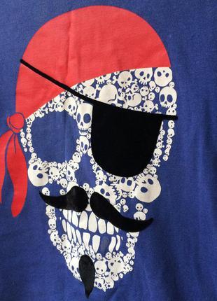 Крутая футболка с черепом пирата от george3