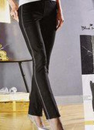 Черные джинсы с лампасами из бисера 40р