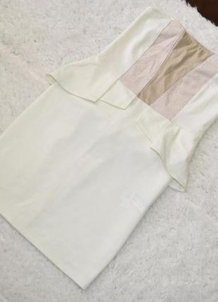 Новое белое  платье с открытыми плечиками  bershka