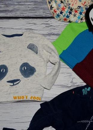 9 - 12 месяцев 80 см обалденно фирменная кофточка реглан батник панда зара zara