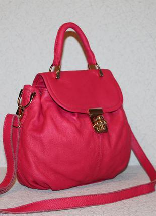Стильная кожаная сумка riarosa италия