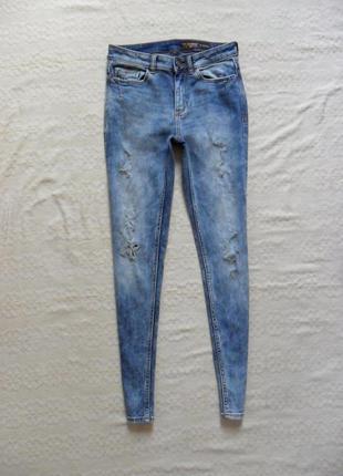 Стильные джинсы скинни c рваностями clockhouse, 36 размер.