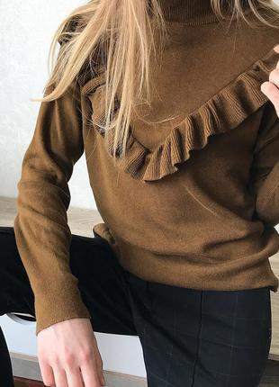 Свитер с рюшей new look