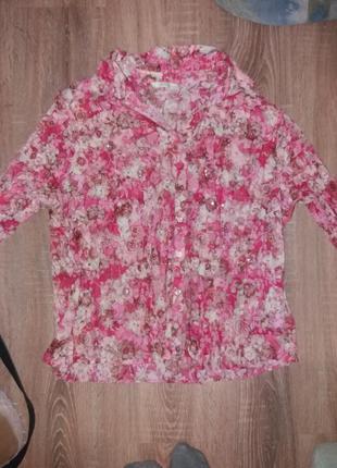 Цветастая рубашка от marks&spencer