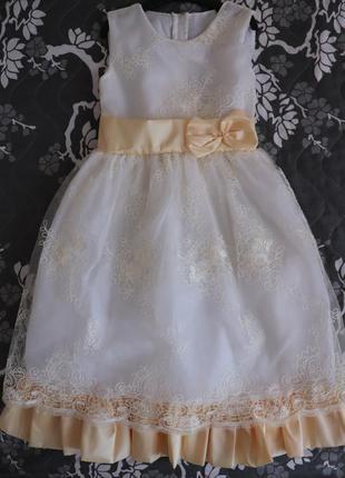 Нарядное выпускное платье на рост 115-125см2 фото
