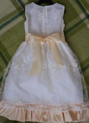 Нарядное выпускное платье на рост 115-125см3 фото