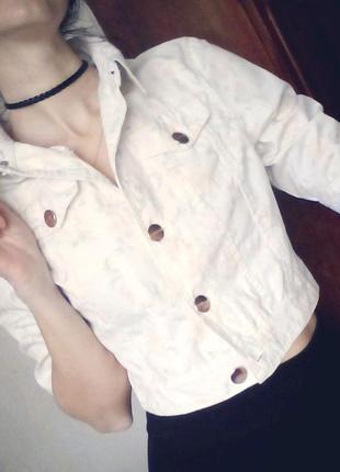 Короткая курта джинс