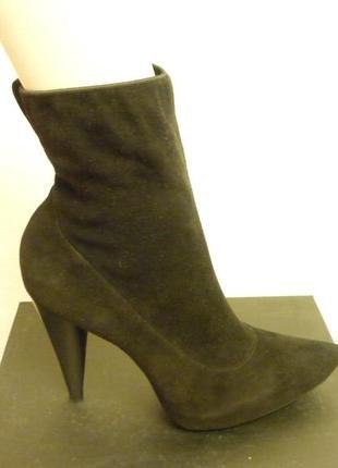 Ботинки чулки стрейчевые, замшевые, tixti (италия)