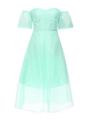 Новое легкое мятное платье