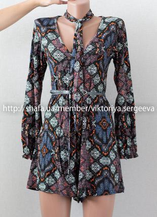 Большой выбор платьев - стильный вискозный комбинезон, комбинезон-платье с чокером