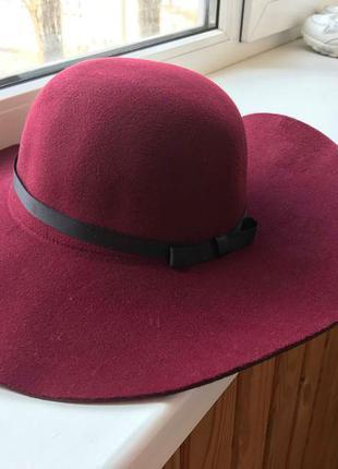 Шляпа фетровая широкополая