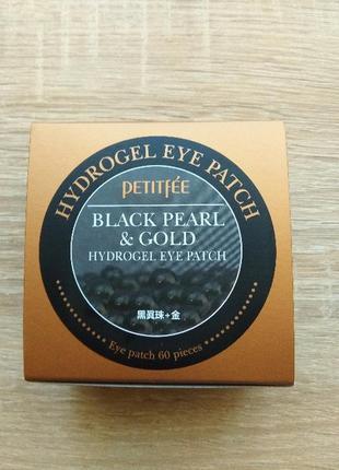 Патчи petitfee. gold and black pearl. патчи под глаза корея, оригинал