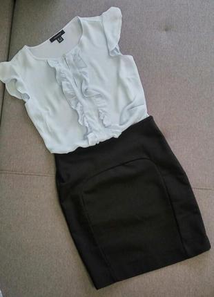 Черная мини юбка pull&bear