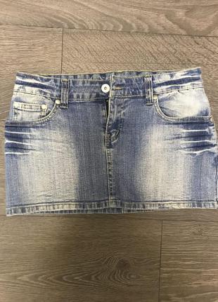 Супер потертая мини юбка'' cotton club ''