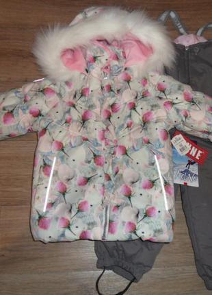 Зимний комплект lenne с кроликами арт. 17313а 86, 92, 98 размер
