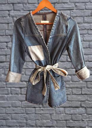 Куртка джинсовая осенняя, пиджак, жакет в винтажном стиле