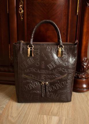 Статусная сумка ripani (италия). кожа