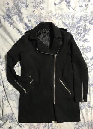 Пальто oversize boyfriend косуха stradivarius