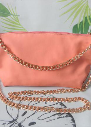 Яркая женская сумка цвет персик