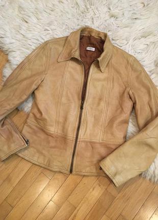 Оригинал max&co линия max mara кожаная куртка коричневая