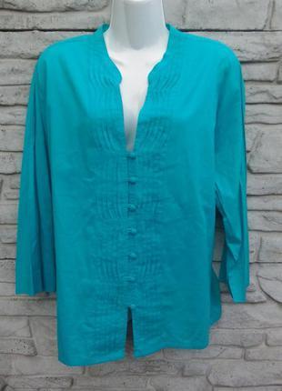 Распродажа!!! красивая, натуральная блуза бирюзового цвета east