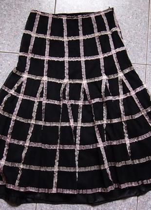 Праздничная эксклюзивная юбка m&s из органзы