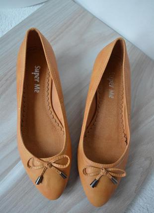 Нові коричневі туфельки super me