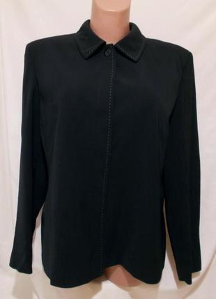 """Куртка-пиджак черная с прострочкой """"m&s"""" 52р"""