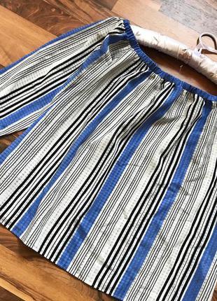Блуза в полосочку с опущеными плечиками