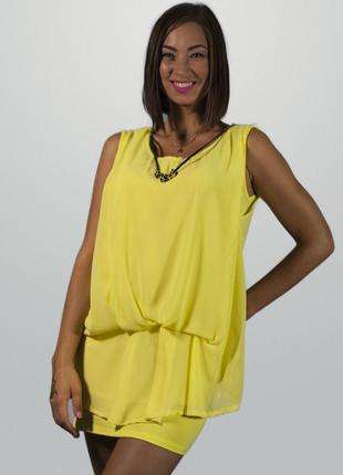 Туника летняя желтая