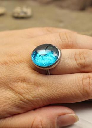 Кольцо голубое