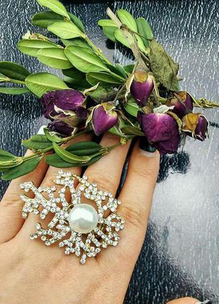 Невероятно красивое и оригинальное кольцо снежная королева