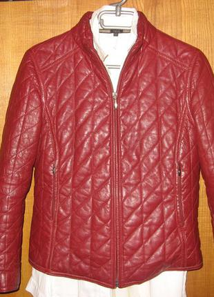 Куртка из натуральной кожи bruno verri производство италия