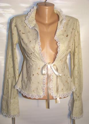 Продажа-обмен блузка-жакет натуральная турецкая бежевая (defile)