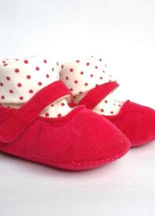 Размер 3-6мес новые нарядные туфельки-пинетки для девочки
