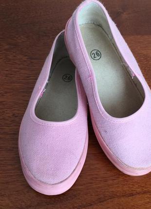 Тапочки розовые на девочку, 17 см по стельке