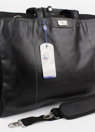 Дорожная сумка, саквояж refiand 88723 черный гладкий