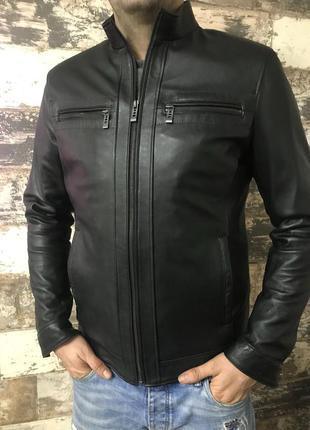 Куртка кожанная мужская/ чоловiча шкiряна куртка1 фото