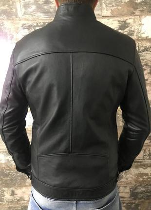 Куртка кожанная мужская/ чоловiча шкiряна куртка2 фото
