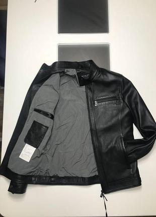 Куртка кожанная мужская/ чоловiча шкiряна куртка3 фото