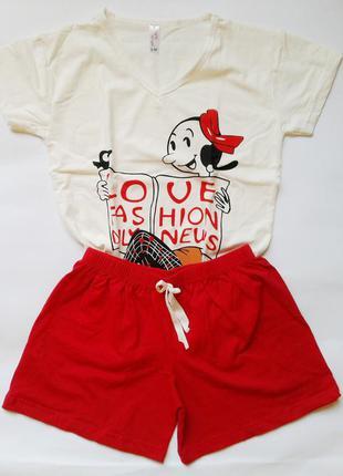 Хлопковая женская пижама турция.