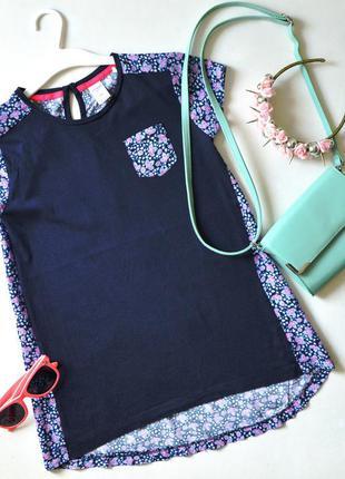 Удлиненная футболка из комбинированной ткани osh&kosh