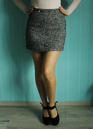 Шерстяная юбка / мини юбка new look