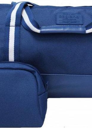 Стильная сумка дорожная синяя ручная кладь спортивная сумка
