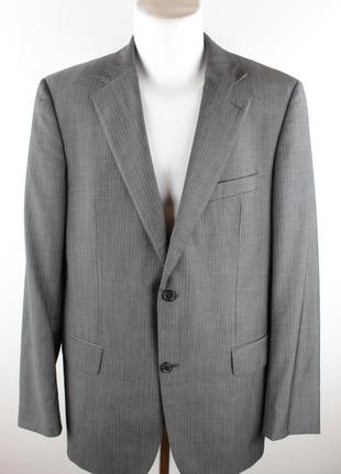 Серый деловой пиджак (шерсть)