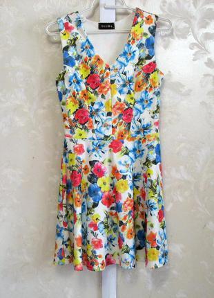 Цветочное платье clubl