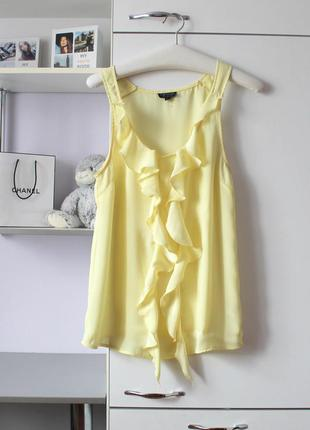 Нежно желтая шифоновая блузочка от topshop