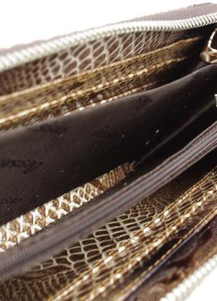 Кошелек кожаный на молнии desisan 072-180 лаковый3